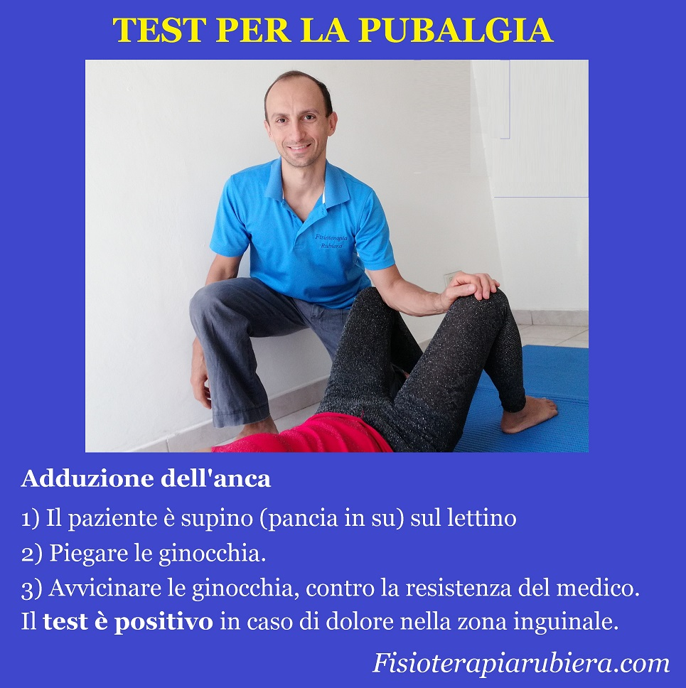 test-adduzione, pubalgia