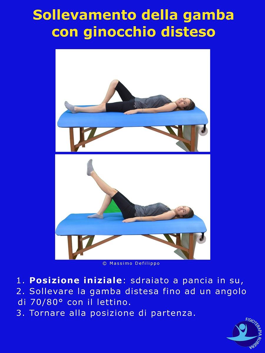 Sollevamento della gamba con ginocchio disteso