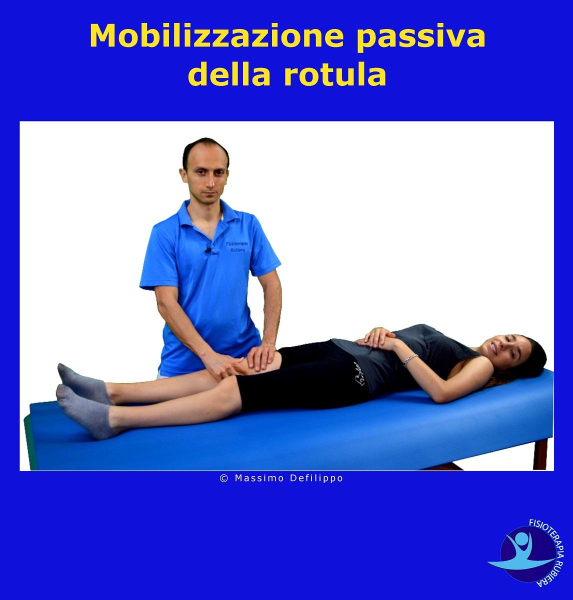 mobilizzazione passiva della rotula